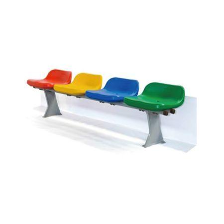 矮靠背吹塑座椅(落地式)